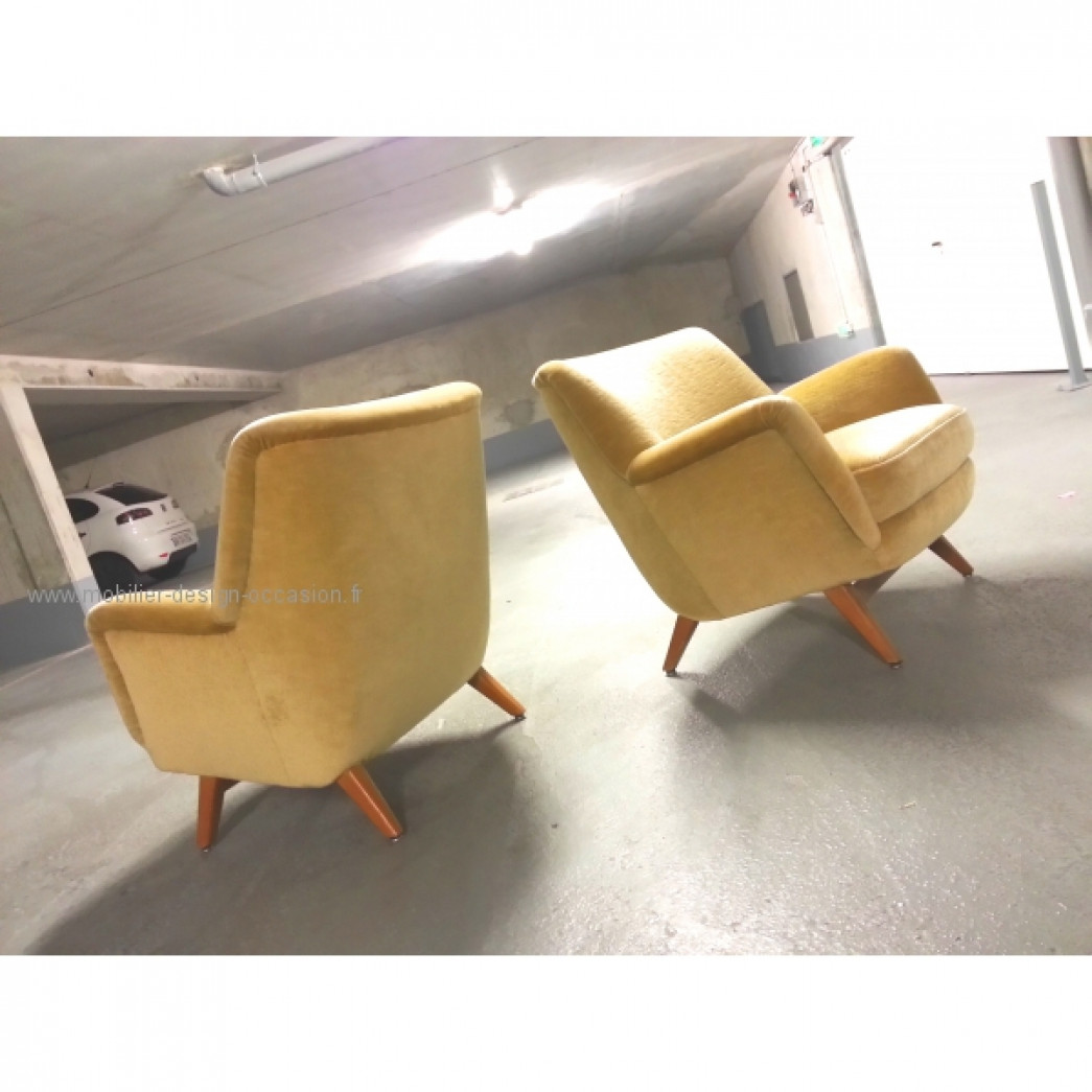 1 Fauteuil club année 50 60 styl Royere Ponti 1950