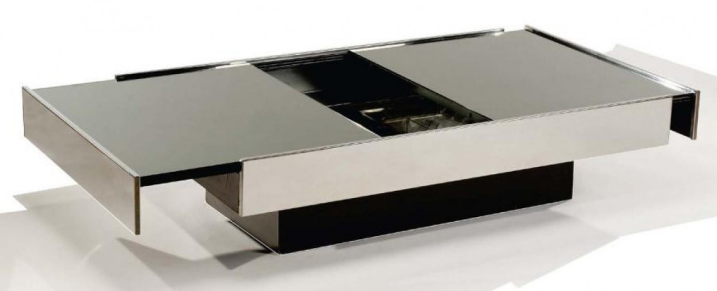 Table basse bar willy rizzo willy rizzo - Table basse bar design ...