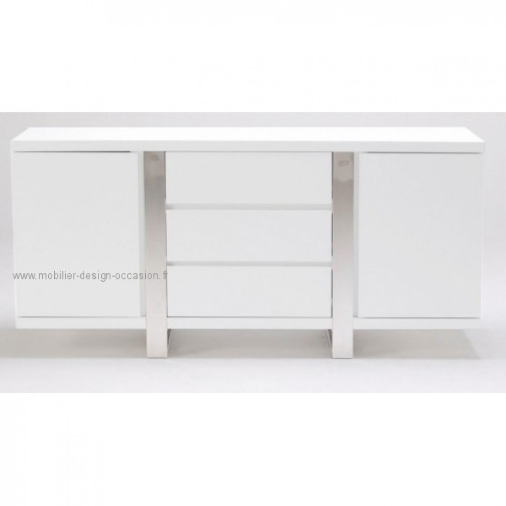 buffet laque blanc achat design achat design. Black Bedroom Furniture Sets. Home Design Ideas