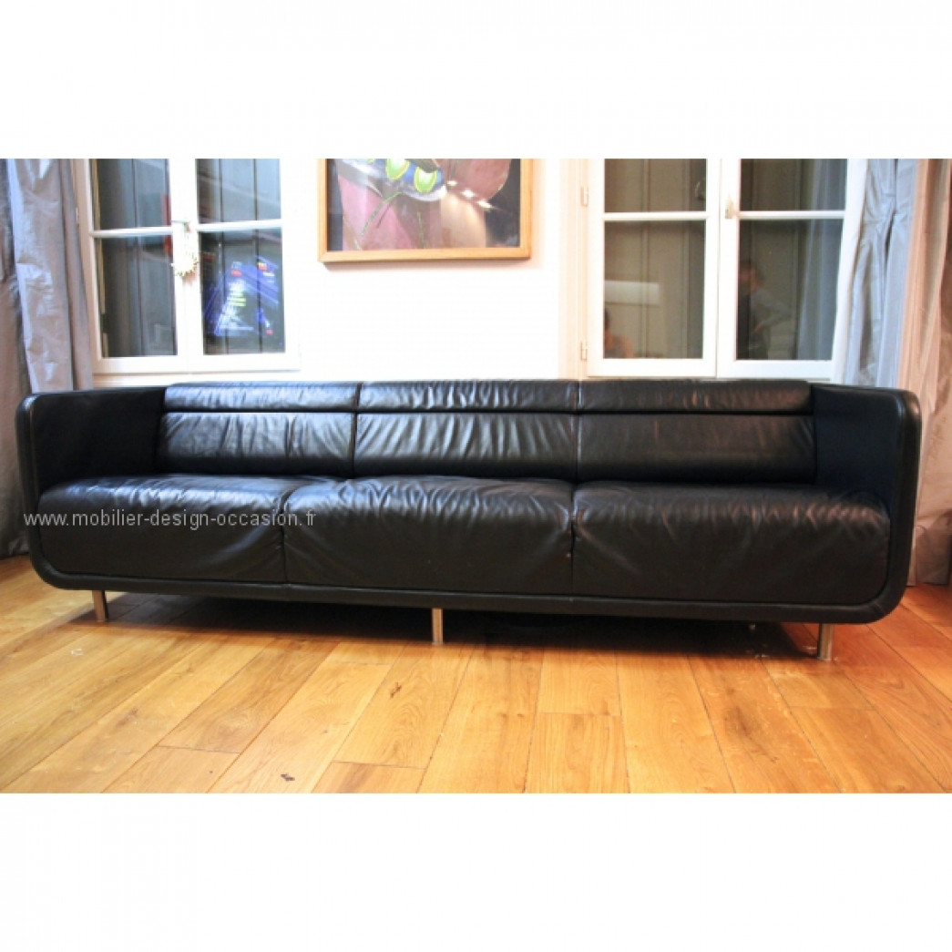 Chauffeuse grise et rouge steelcase john small - Chauffeuse grise ...