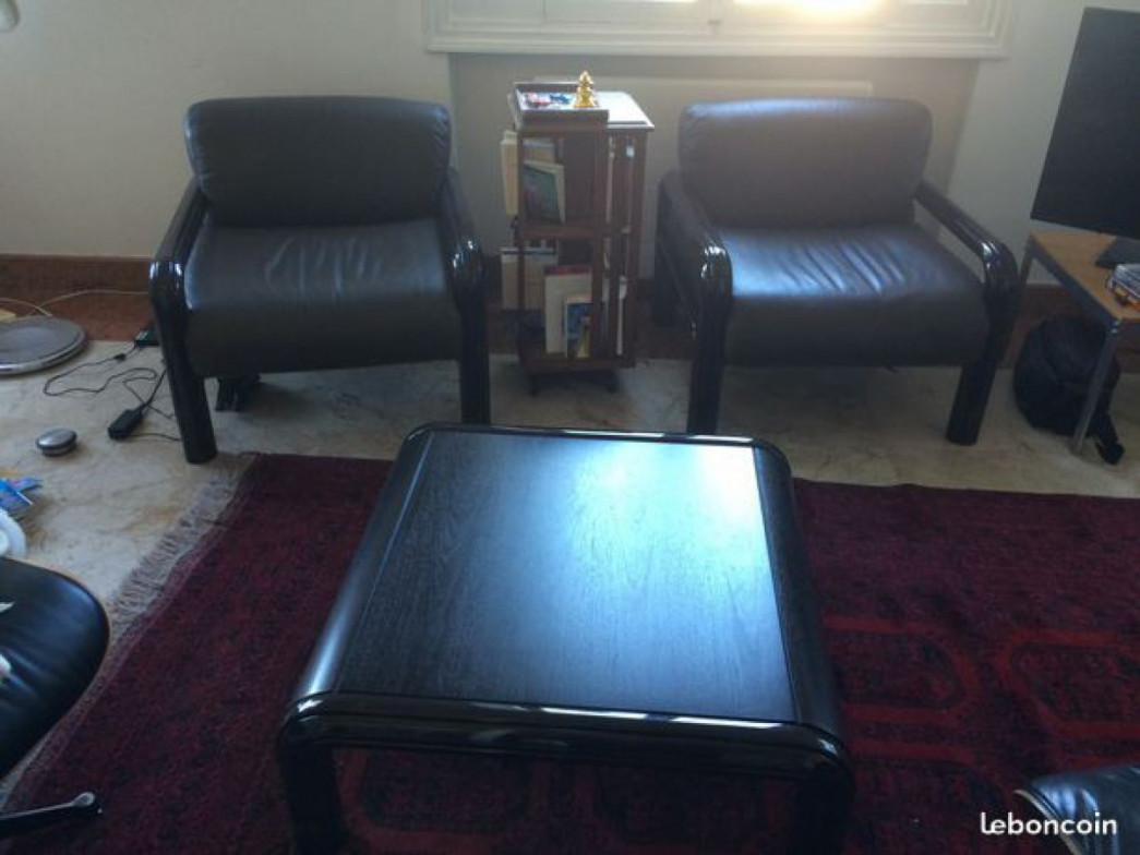 Table basse Orsay + fauteuils,KNOLL,Gae Aulenti