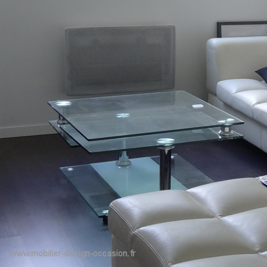Table basse m tal et verre boconcept - Table bo concept occasion ...