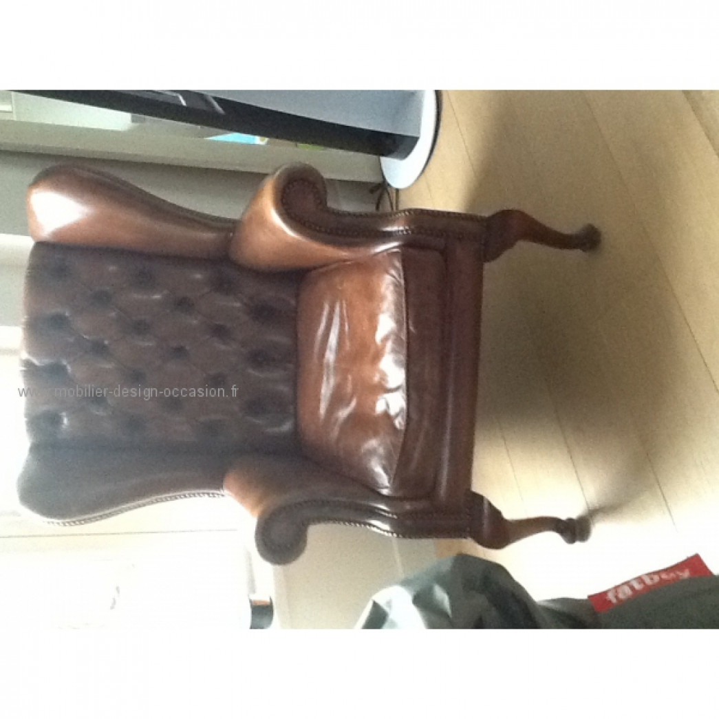 Chesterfield cuir roux chesterfield - Fauteuil chesterfield cuir occasion ...