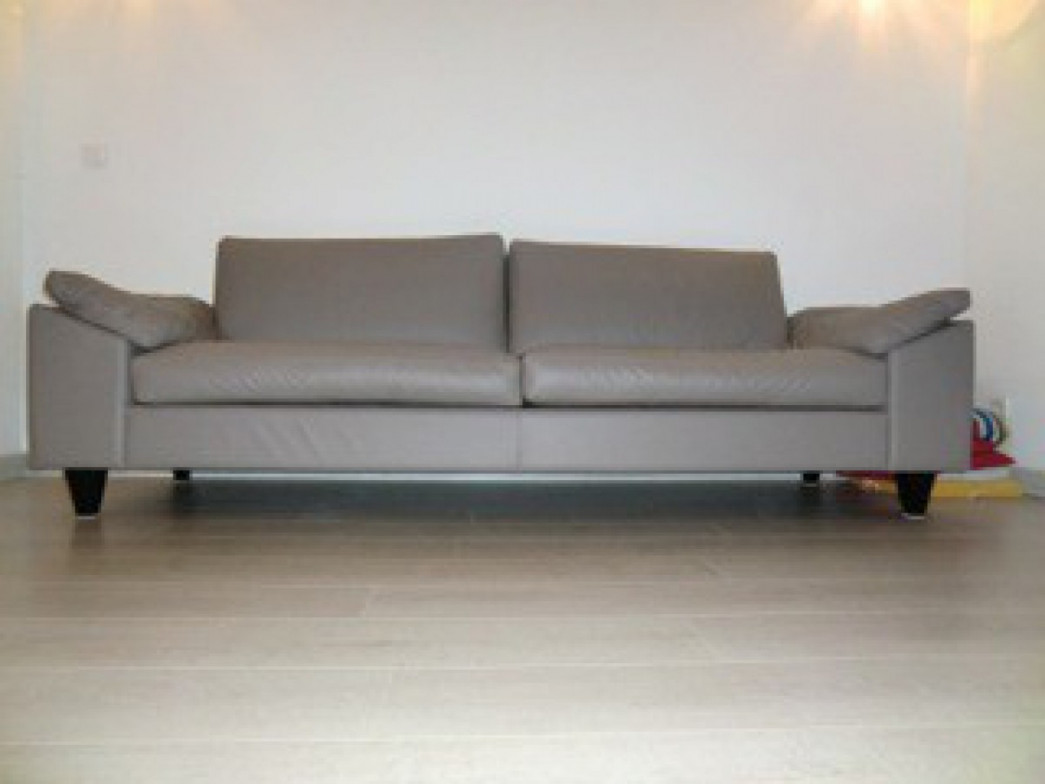Canape maurice cuir argile 4 places calligaris - Canape mah jong occasion ...