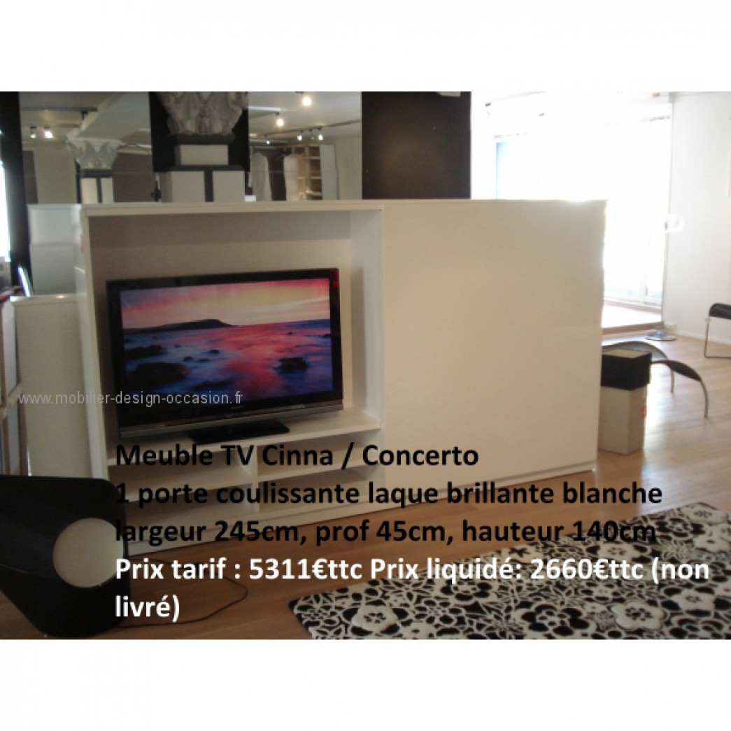 meuble tv everywhere 1 tiroir 1 abattant cinna christian. Black Bedroom Furniture Sets. Home Design Ideas