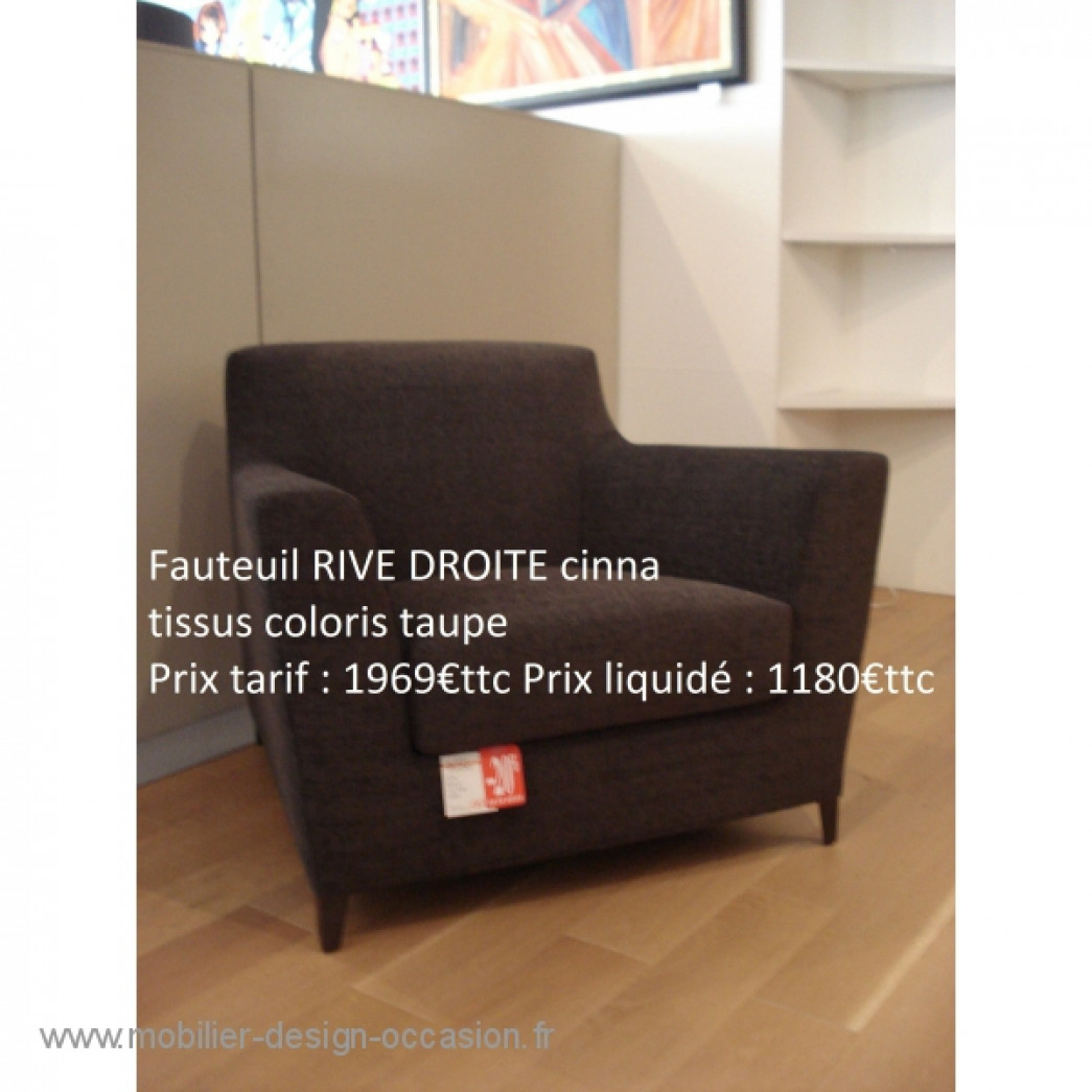 fauteuil rive droite cinna. Black Bedroom Furniture Sets. Home Design Ideas