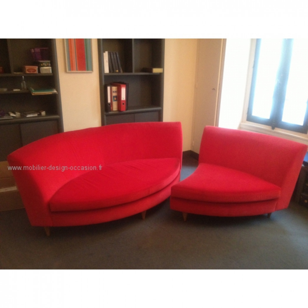 Canap en velours rouge by conran shop conran shop - Canape rouge velours ...