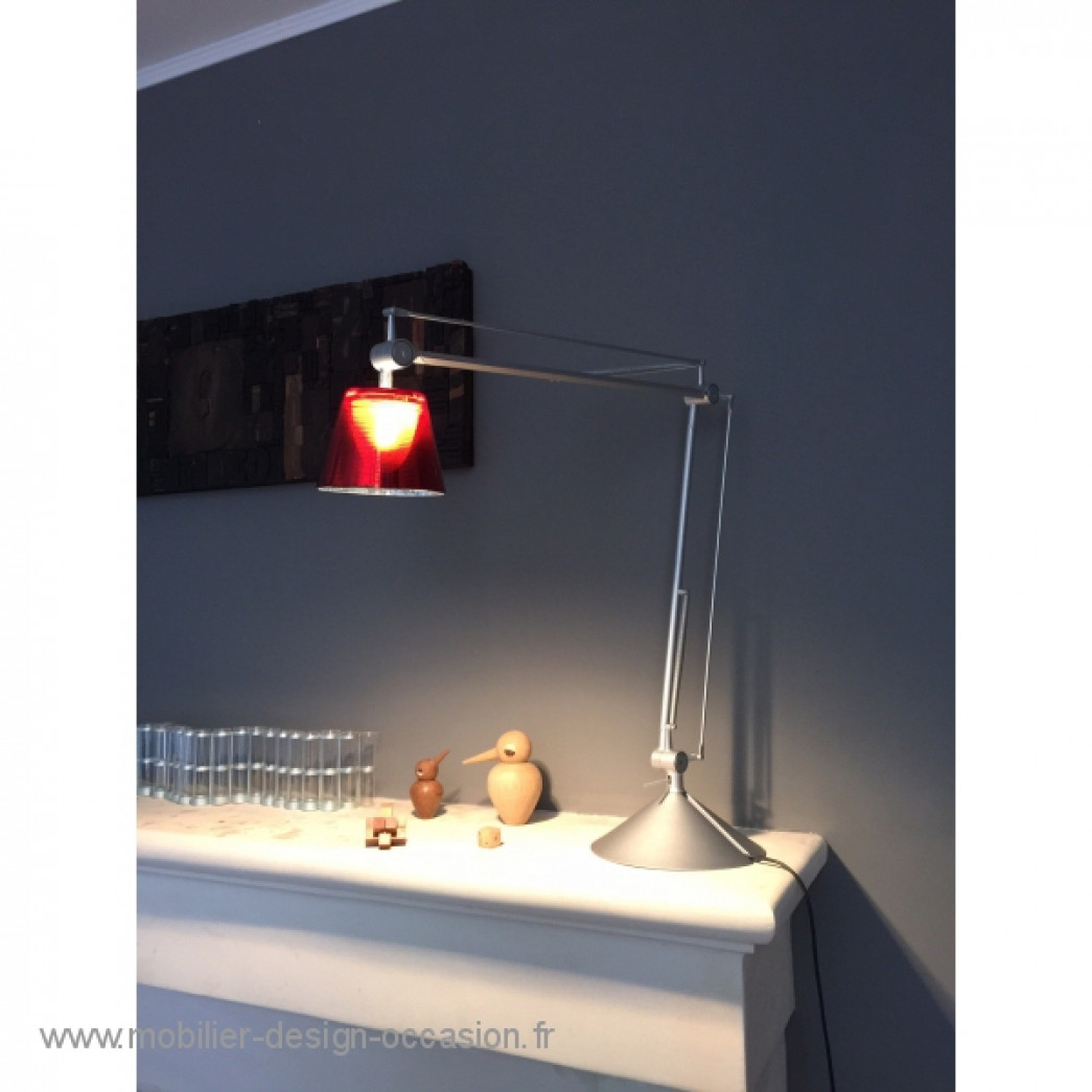 lampe archimoon flos starck rouge flos philippe starck. Black Bedroom Furniture Sets. Home Design Ideas