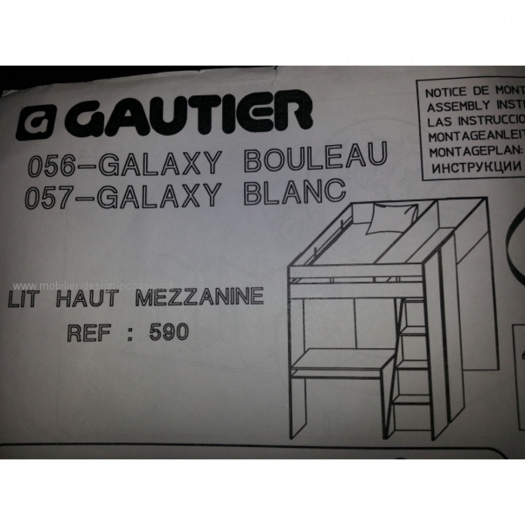 lit mezzanine new galaxy blanc gautier. Black Bedroom Furniture Sets. Home Design Ideas
