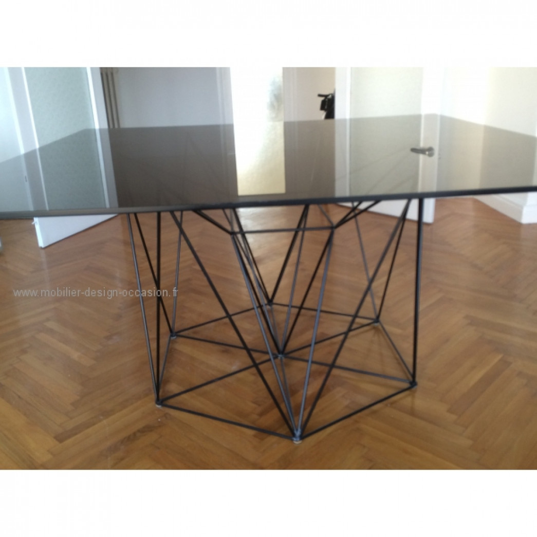 table verre habitat occasion