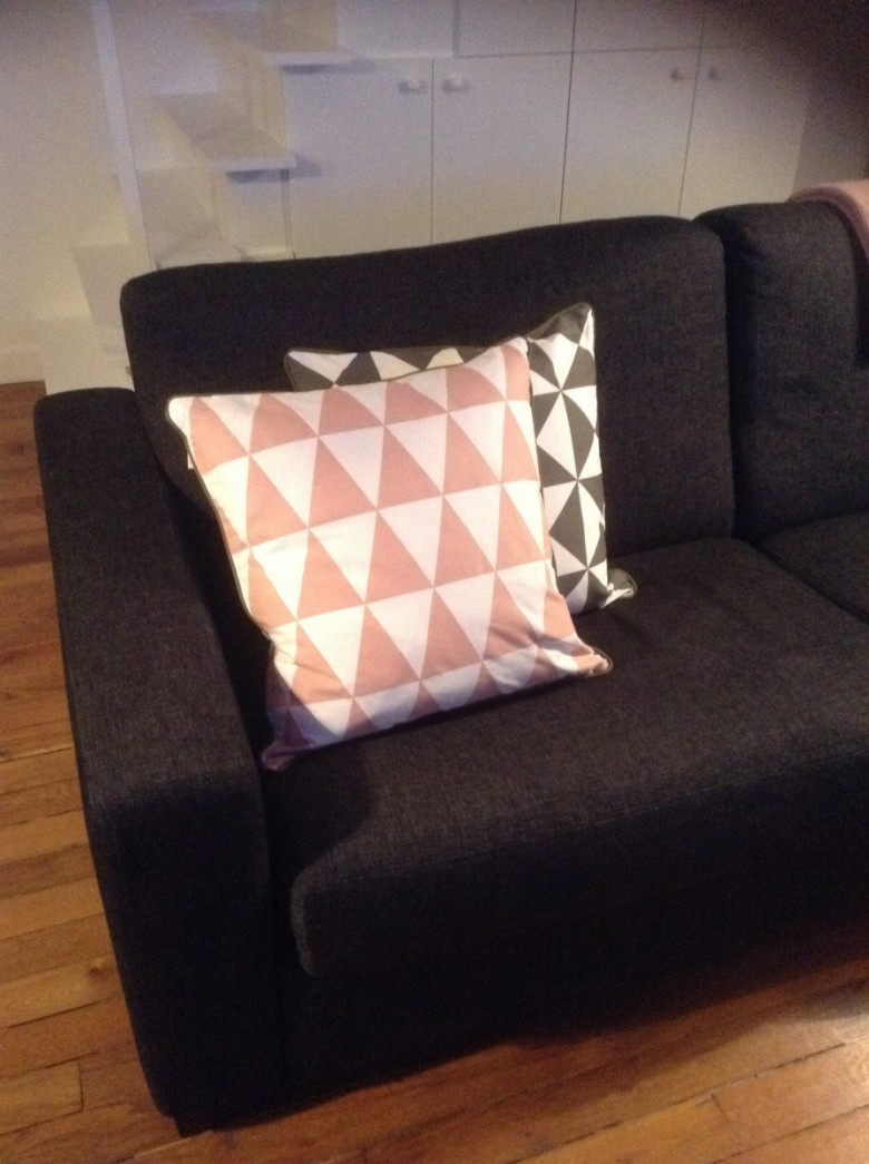 Coussin Geometry Large - Rose,Ferm Living