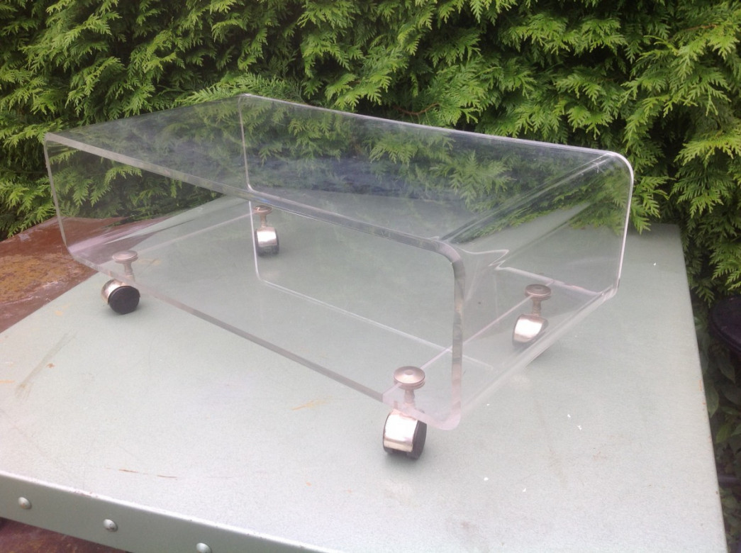 Meuble tv en plexiglas design 70 - Table basse en plexi ...