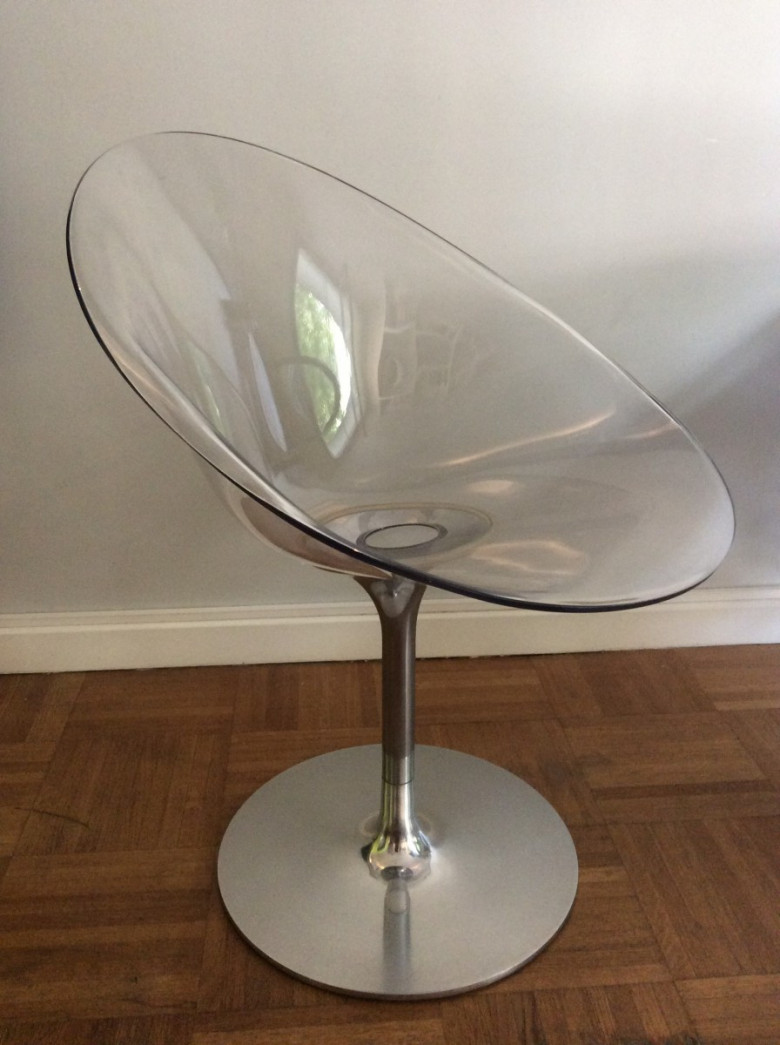 Fauteuil pivotant en polycarbonate kartell philippe starck - Fauteuil mademoiselle kartell occasion ...