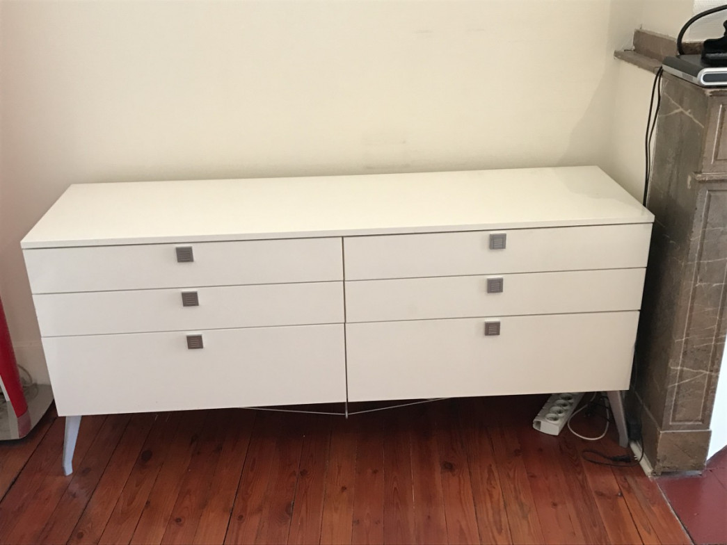 Gautier - Commode laquee blanche ...