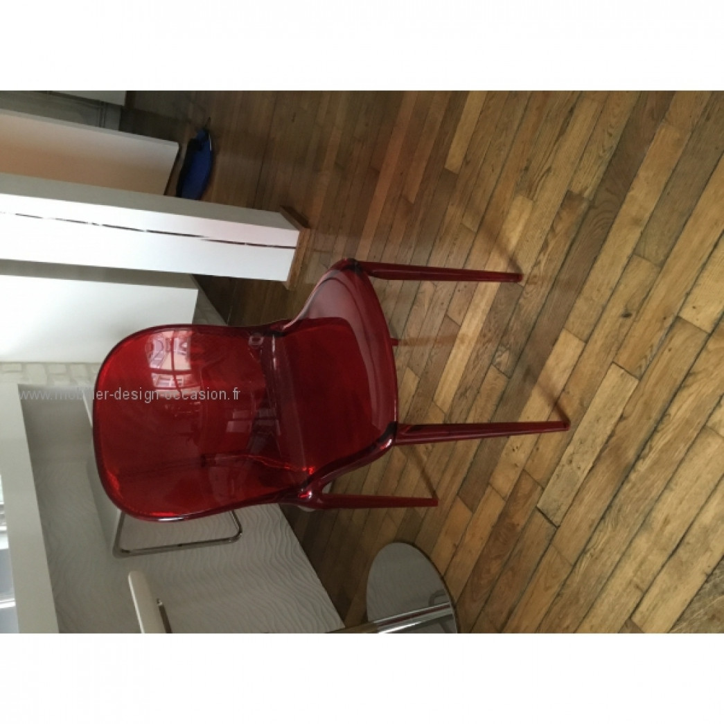 Chaises kartell thalya rouge kartell - Fauteuil mademoiselle kartell occasion ...