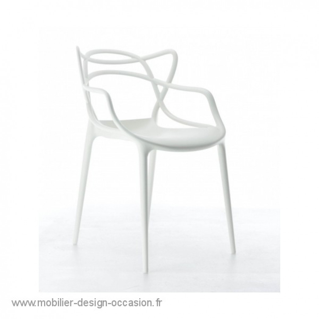 lot de 4 Chaises Masters Kartell blanches,KARTELL,Philippe STARCK