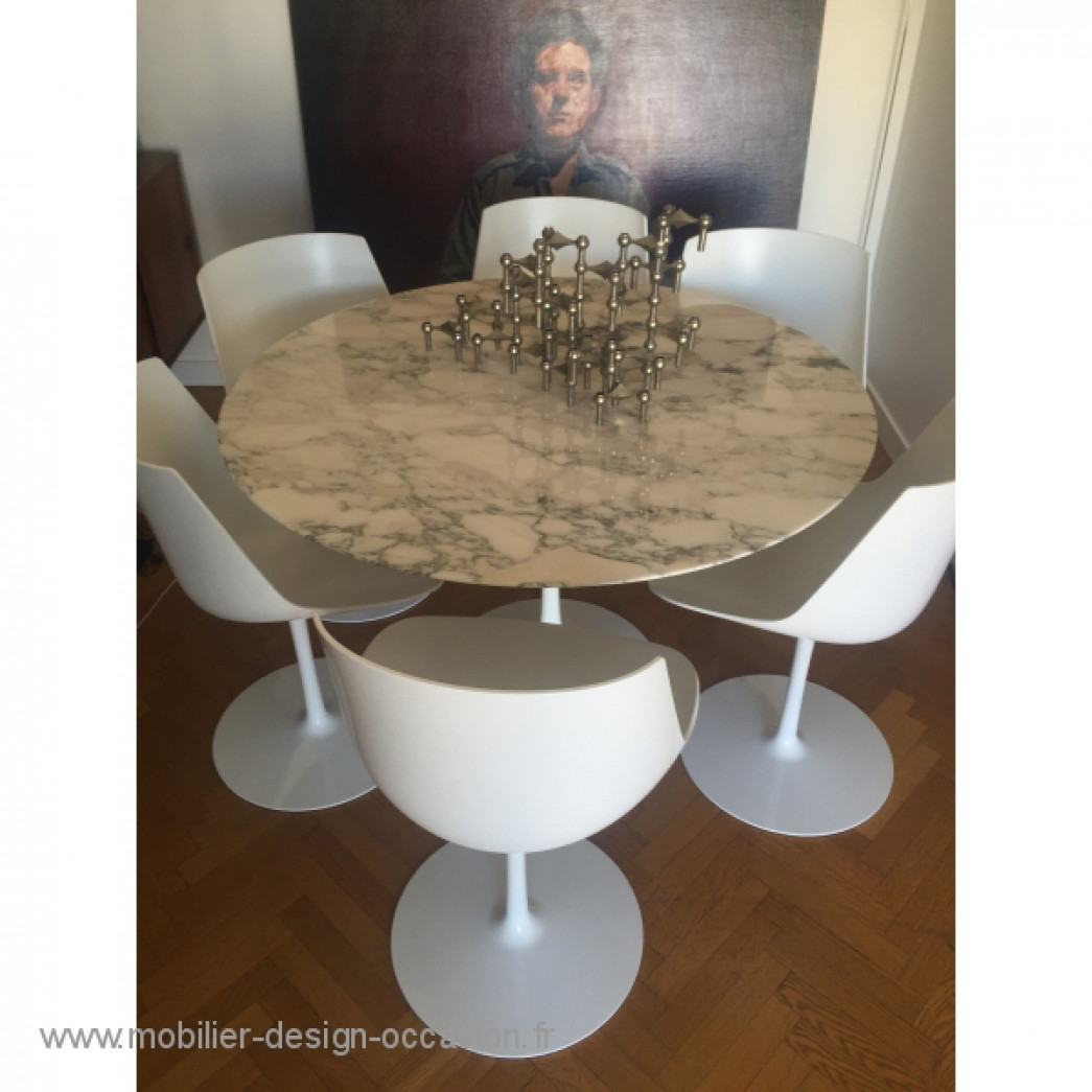 table ronde 107 pied tulipe design eero saarinen knoll On table knoll occasion