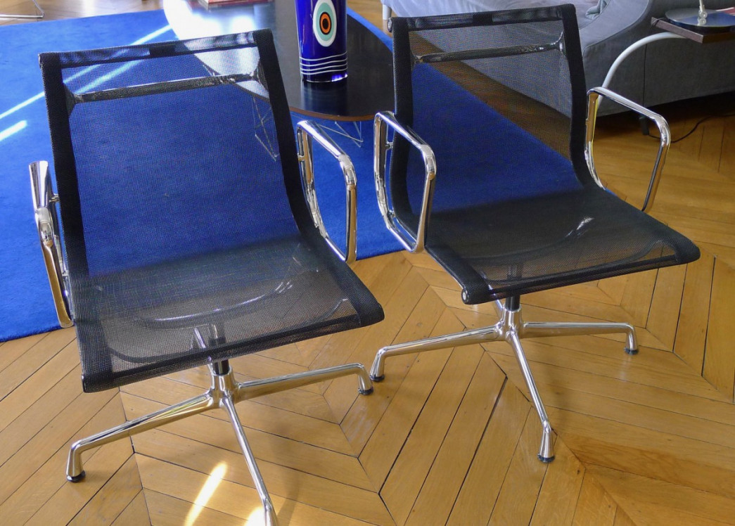 Aluminium chair lot de 2 chaises vitra eames for Vitra eames prix