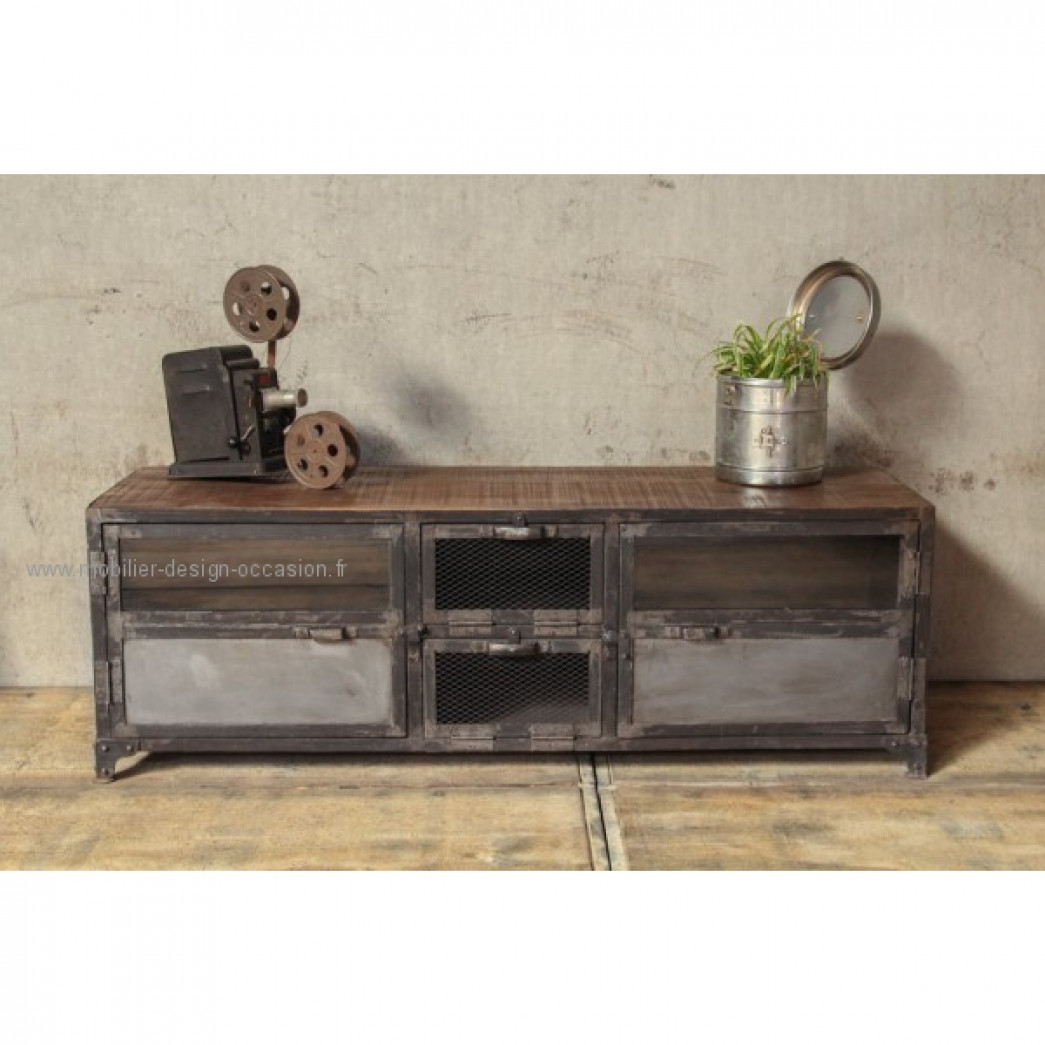 Mobilier for Meuble tv industriel occasion