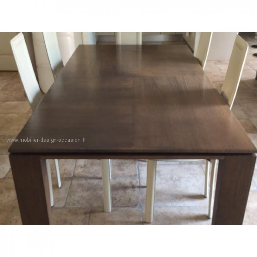 Table basse couleur wenge for Table salle a manger wenge but