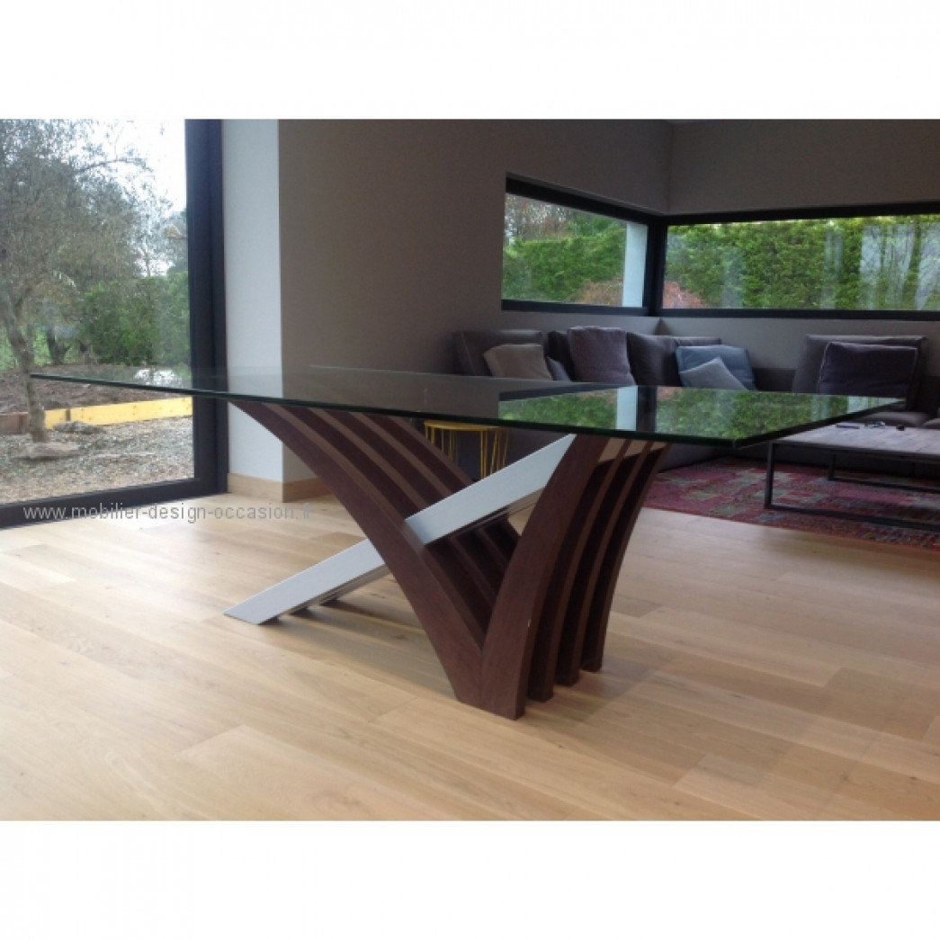 Table en verre mobilier de france