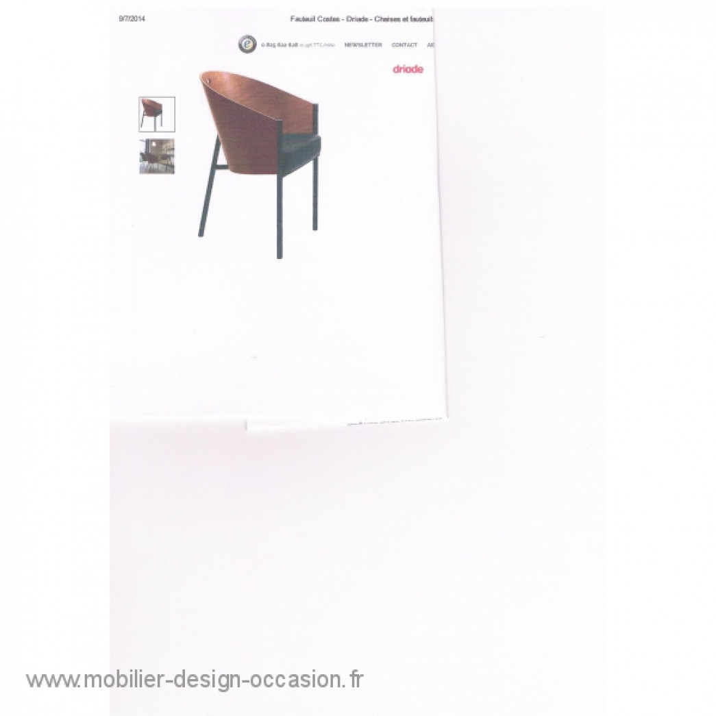 FAUTEUIL  COSTES DRIADES ,Philippe STARCK