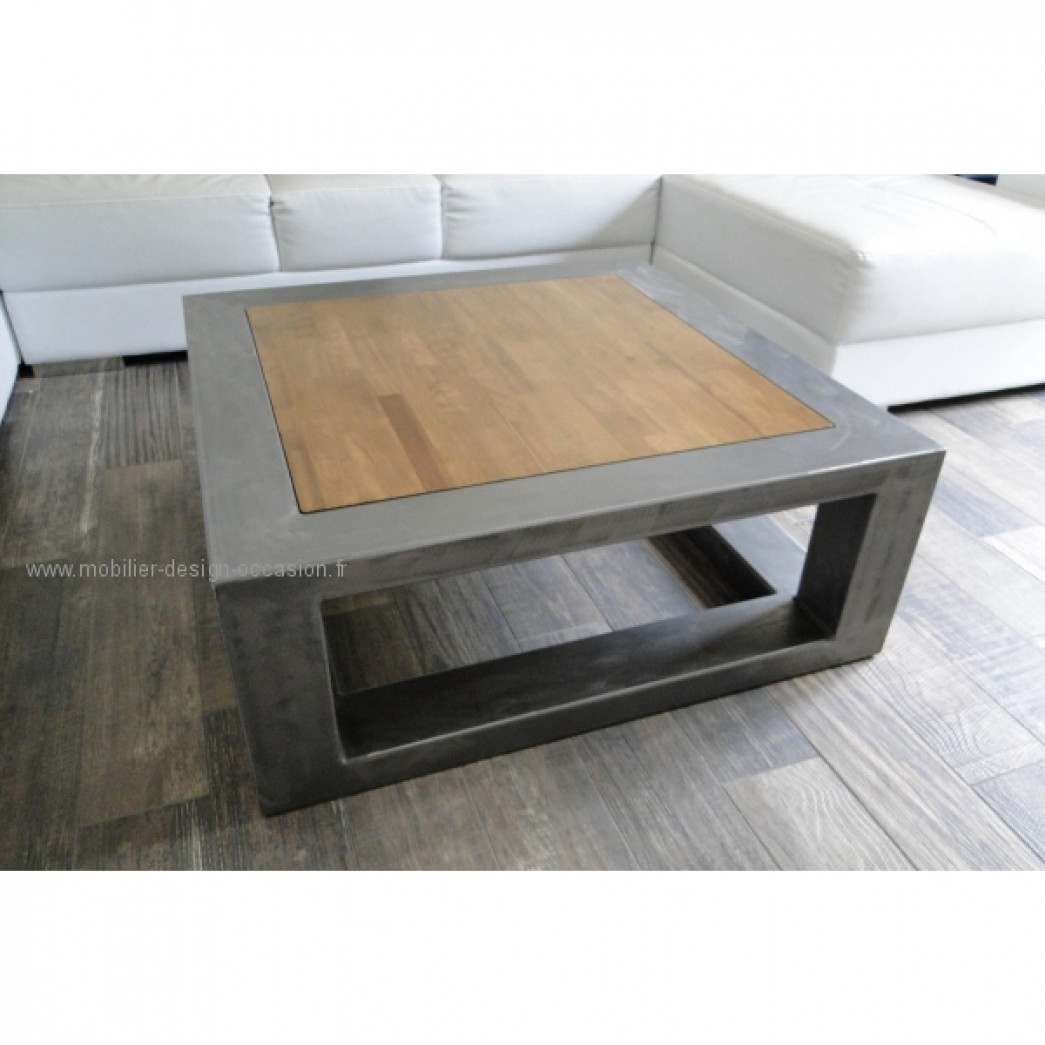 Table basse acier bois pierre sala design pierre sala for Table basse acier design