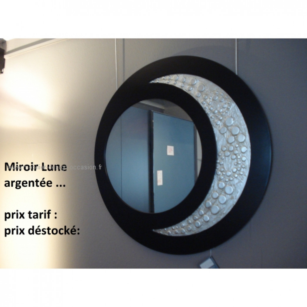 miroir lune argent e pint decor. Black Bedroom Furniture Sets. Home Design Ideas