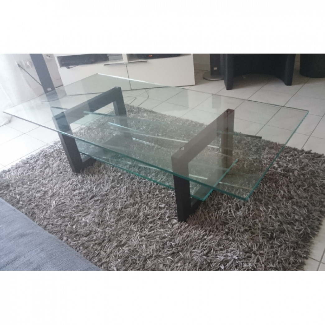 Tables basses - Table basse en verre roche bobois ...