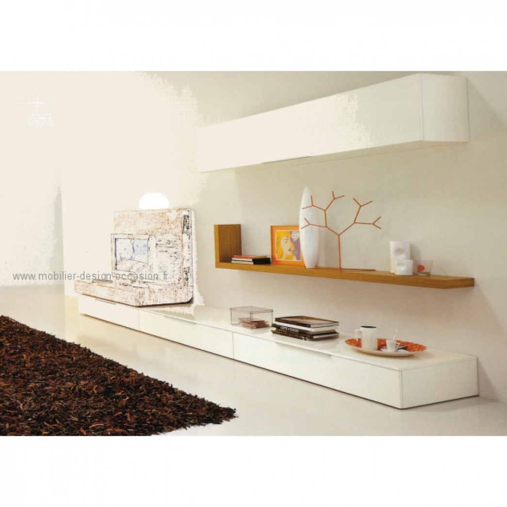 Meuble tv etag re studio design italien for Meuble tv avec etagere