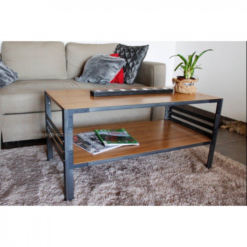 Table basse design style industriel for Table design industriel