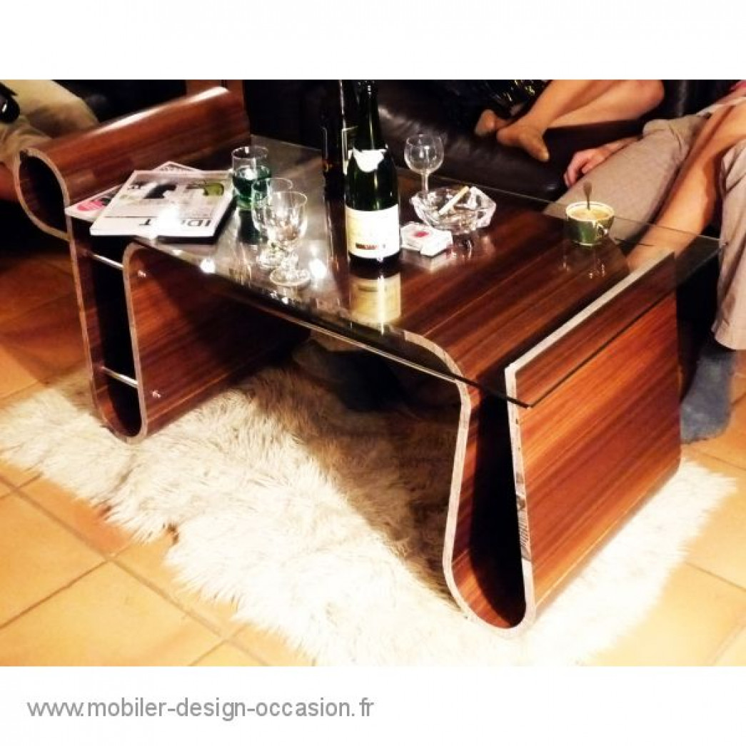 table basse jeune cr ateur noyer. Black Bedroom Furniture Sets. Home Design Ideas