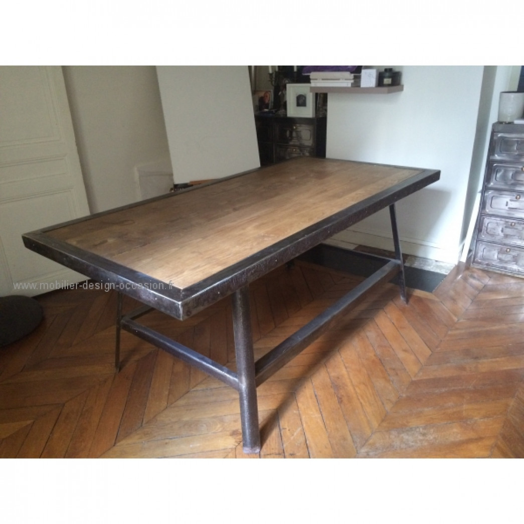 Salle a manger design industriel id es d co salle for Table design industriel