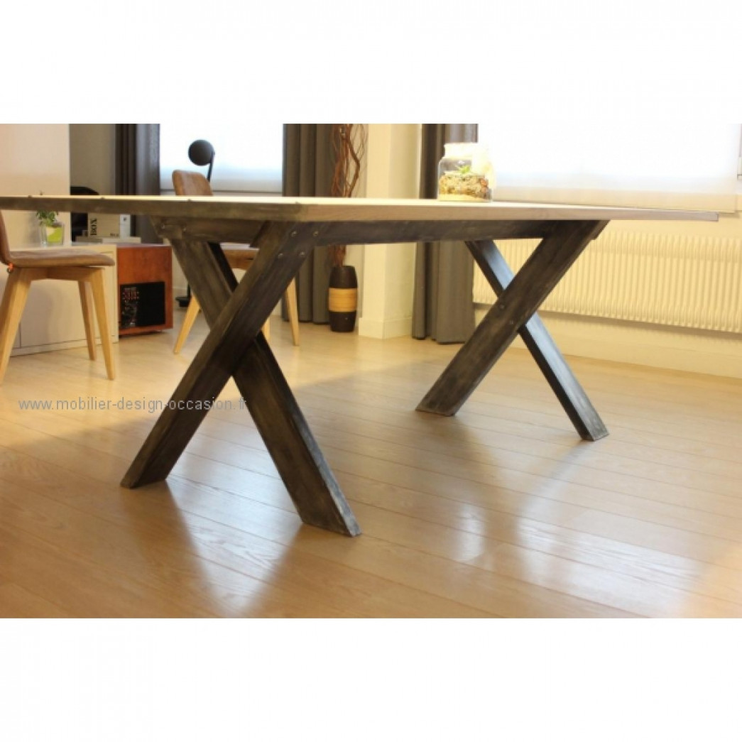 Table de s jour type industrielle - Table de sejour design ...