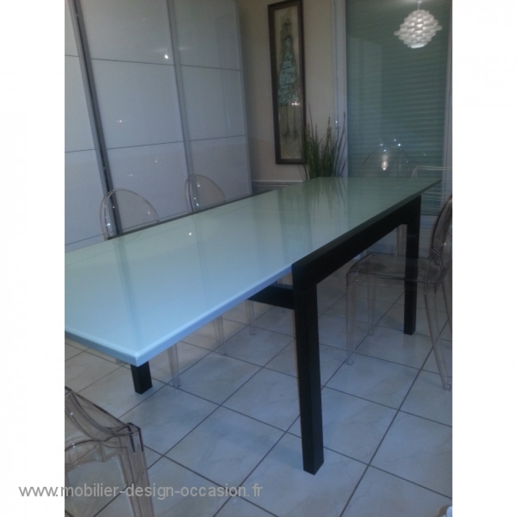 Table ovale vers 1970 knoll saarinern plateau marbr dans for Table bo concept occasion