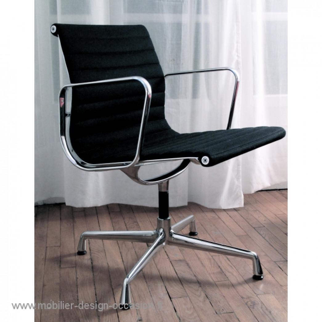 fauteuil vitra aluminium chair ea 108 ch eames vitra. Black Bedroom Furniture Sets. Home Design Ideas
