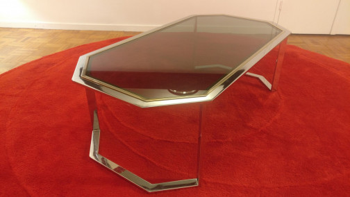 Table basse chromée Willy Rizzo