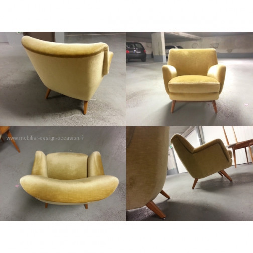 1 Fauteuil club année 50 60 styl Royere Ponti 1950(2)