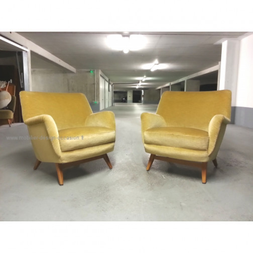 1 Fauteuil club année 50 60 styl Royere Ponti 1950(3)