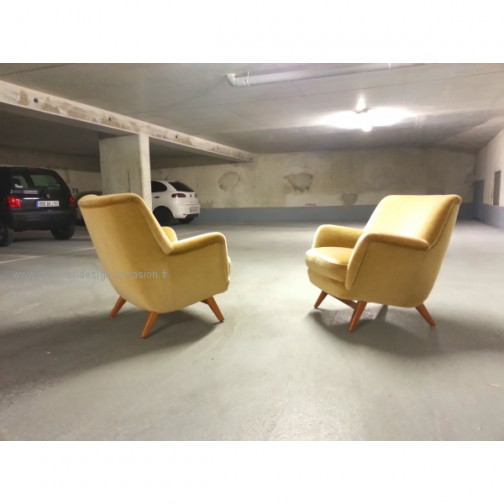 1 Fauteuil club année 50 60 styl Royere Ponti 1950(4)