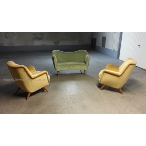 1 Fauteuil club année 50 60 styl Royere Ponti 1950(5)