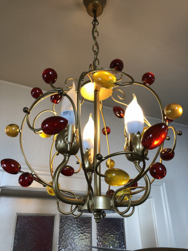 Lustre rond 4 branches