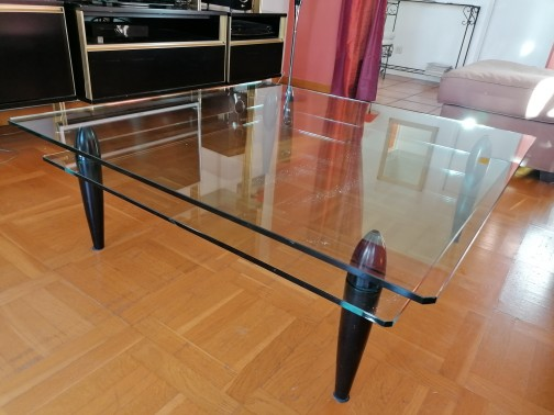 Table verre carree