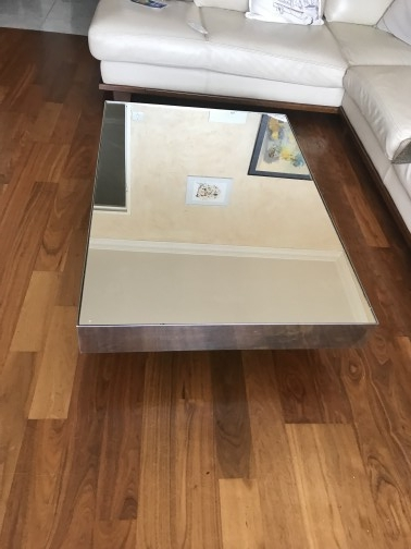 Table basse années 1970,Ligne Roset,Willy Rizzo