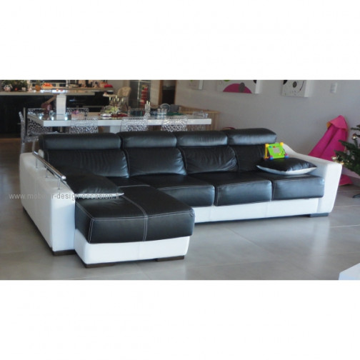 Canape cuir 5 pl 1 fauteuil cuir - Canape design occasion ...