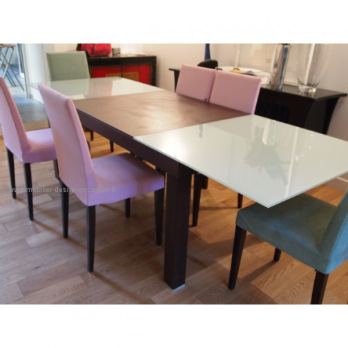 TABLE EUREKA CINNA + 6 CHAISES