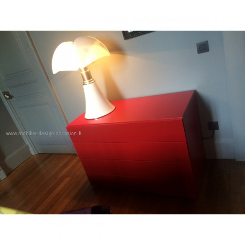 commode laquée rouge(1)