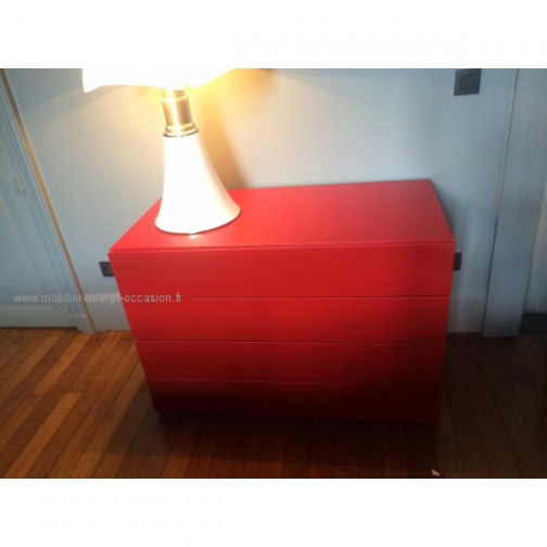 commode laquée rouge(3)