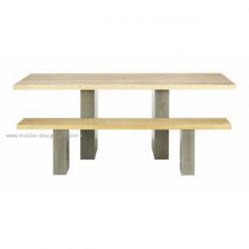 Ensemble Table + 2 bancs Lundy par Terence Conran