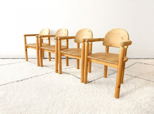 LOT DE 4 CHAISES RAINER DAUMILLER VINTAGES